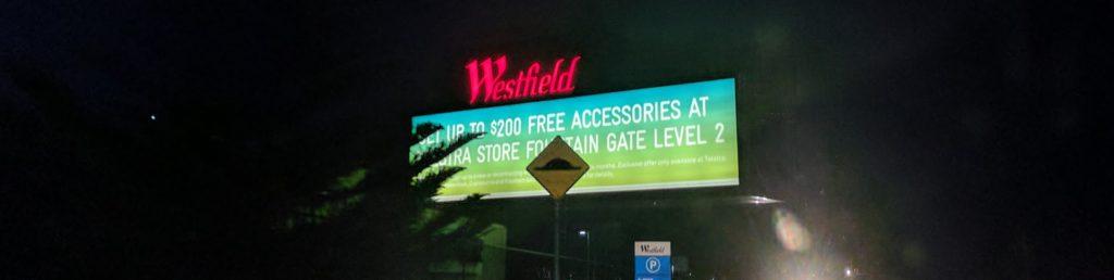 Alternative shot of the Telstra Scam Billboard, for Telstra Store Fountain Gate Lvl 2